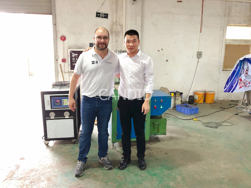 Spanish Customers Visit Candid Crayon Making Machine Factory